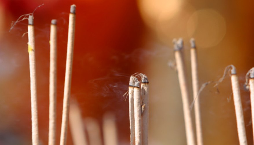 Incense sticks burned during rituals are sometimes referred to as joss sticks.
