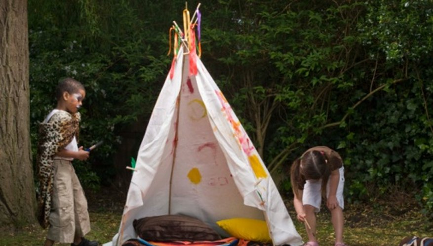 Use scrap cloth for re-creating teepees.