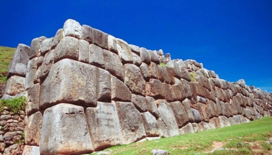 The Incas built cities with enormous blocks of stone.