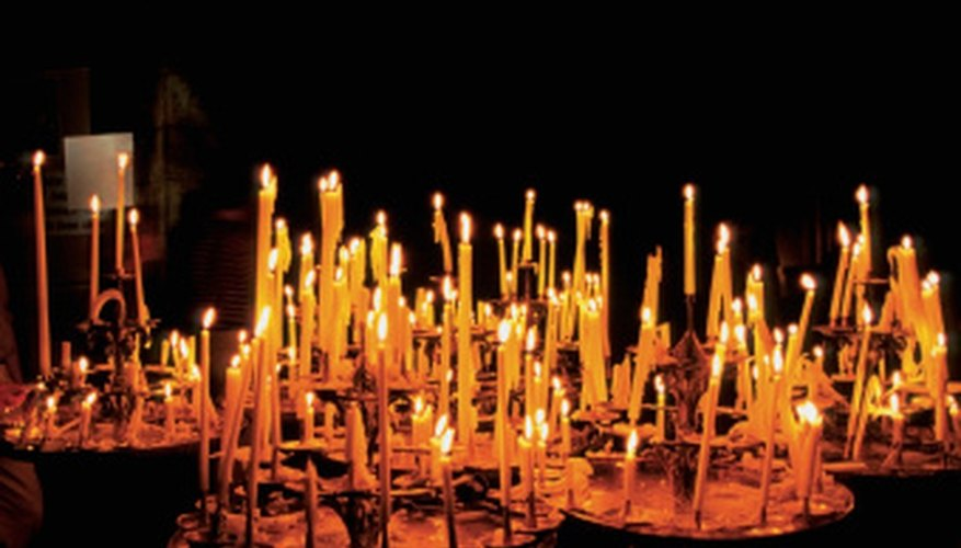 Candles at Notre Dame Cathedral, Paris, France.