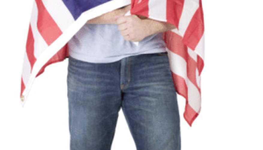 A U.S. Flag should never be used as clothing.