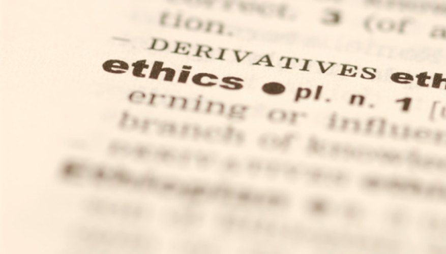 A paper on integrity is based on a definition of the word.