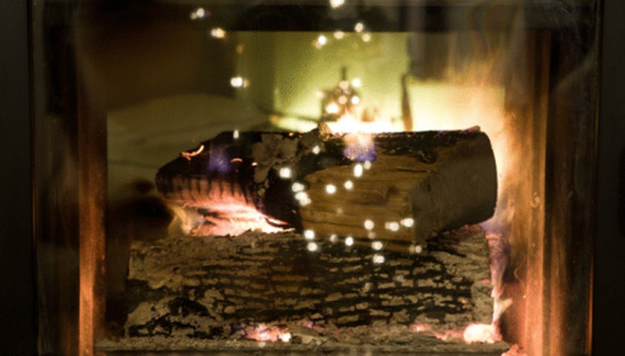 Embers within the fire help to extend the burn time.