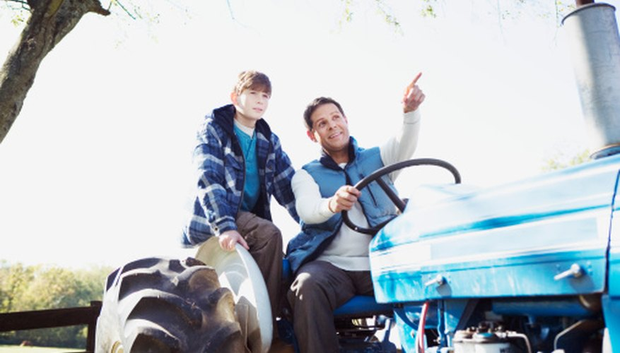 Farming is taught to younger generations through FFA programs like SAE.