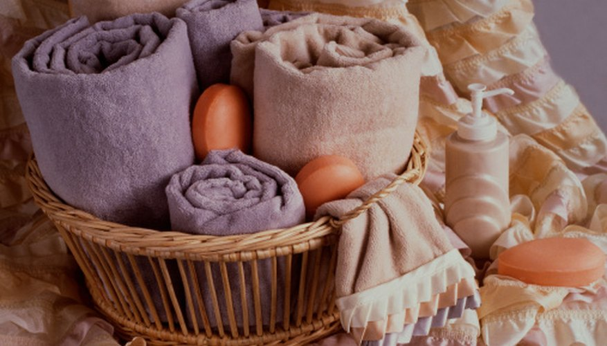 Baskets with items for the home are practical and appeal to a wide audience.