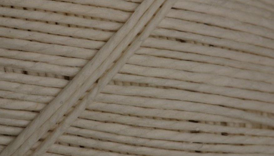 Cotton rope is specially treated to better withstand outdoor moisture.