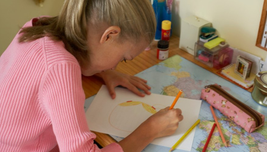 Students can draw scenes or make dioramas.