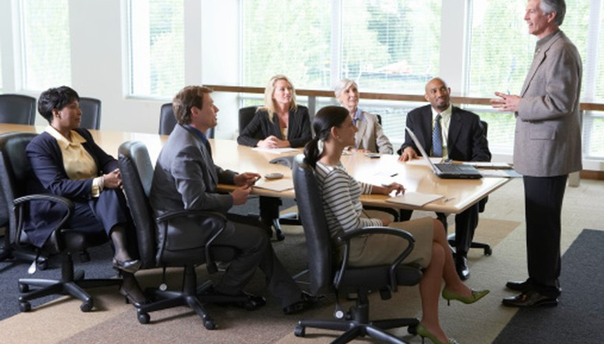 Turning the classroom into a boardroom encourages authentic language practice.