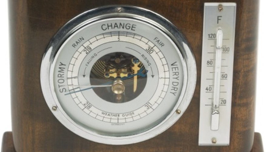 Barometers were invented in the 1600s.