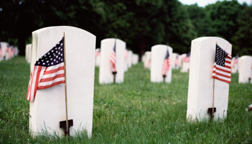 Military gravesites are found throughout the country.