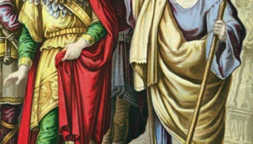 The prophet Elijah confronts evil King Ahab.