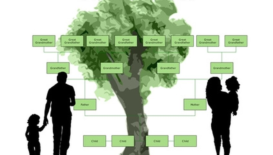 A family tree made to look like a literal tree can bring the concept and the past alive.