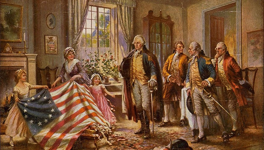 Betsy Ross presenting the