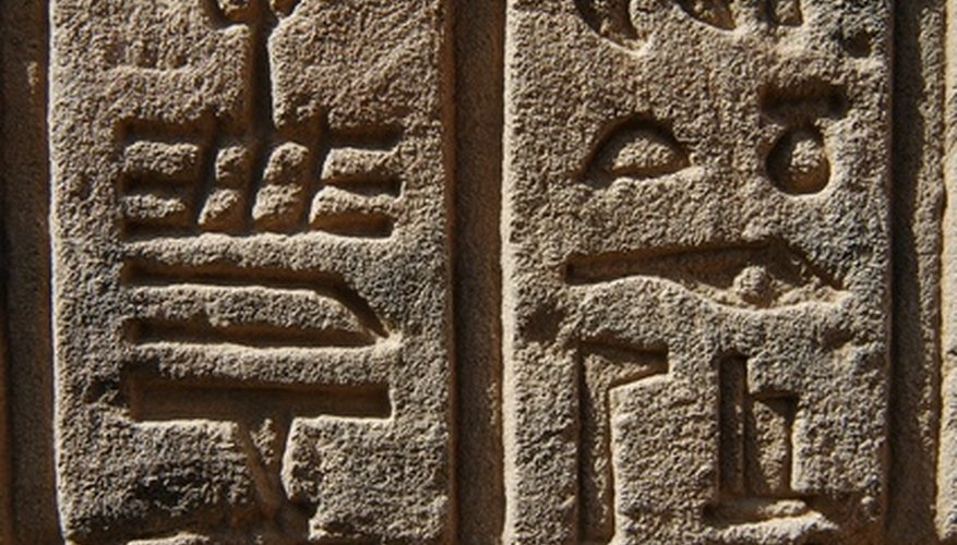 Ancient Egyptians invented a language made of shapes, lines and animals symbols.