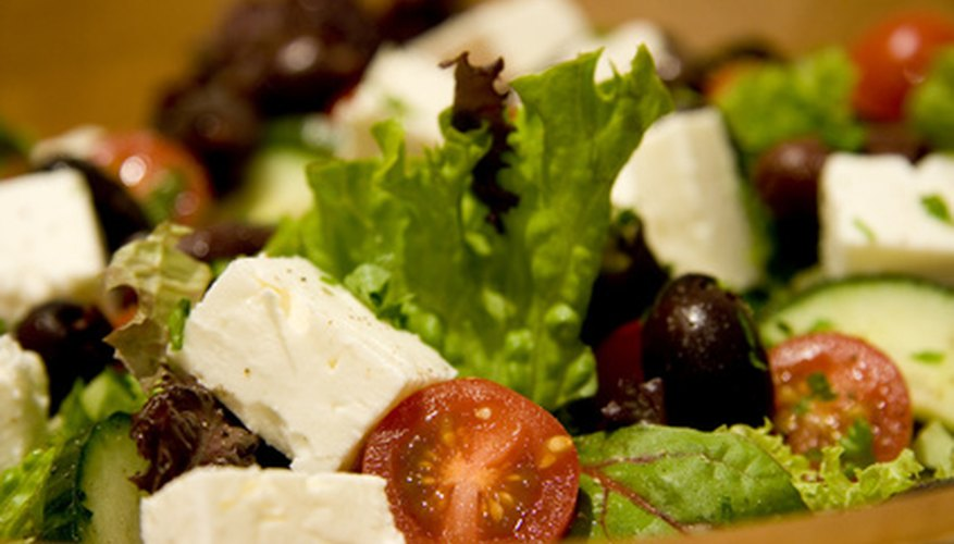 Students can easily make Greek salad at school.