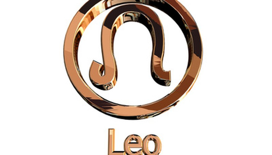 The Leo symbol is a lion's tail.