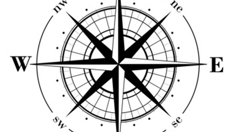 A compass has eight points.