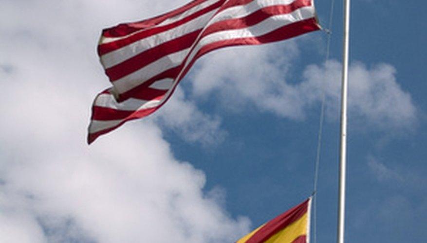 Arizona state flag, below the U.S. flag.