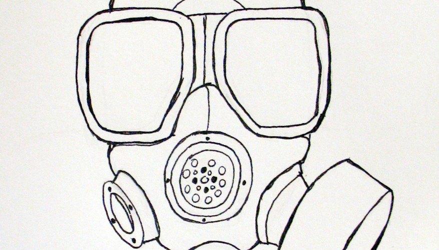 Cómo dibujar una máscara de gas m40.