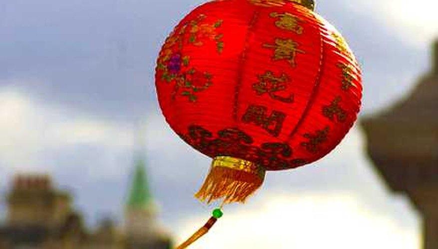 Ningún feriado oficial chino requirió la fabricación de faroles coloridos de alambre.