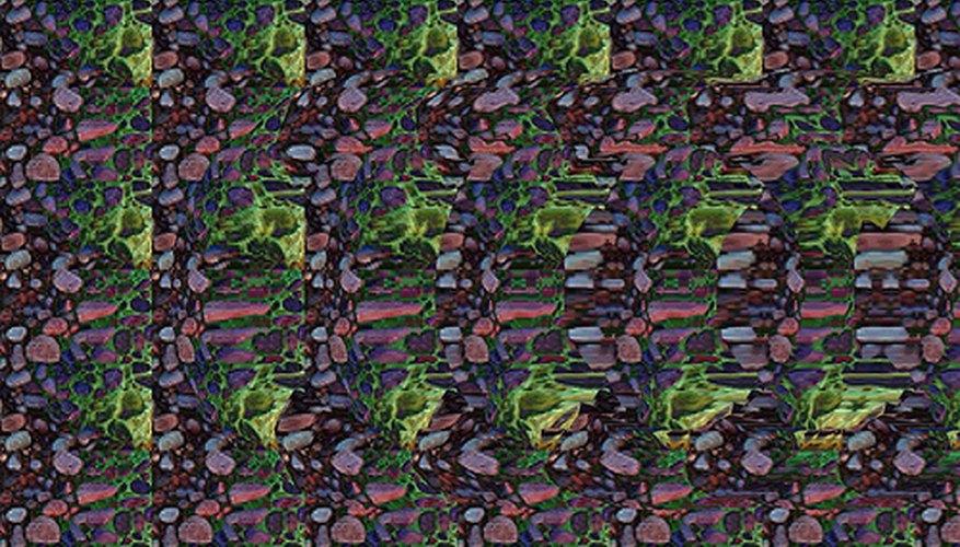 Al mirar el estereograma 2D puedes detectar una imagen oculta que aparecerá como un objeto 3D.