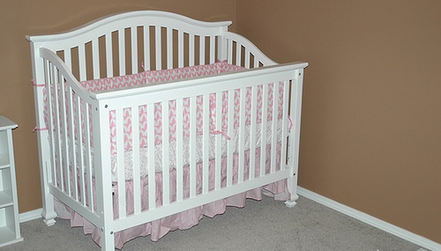 Your crib can be any design you wish, but try to keep it clean and simple.
