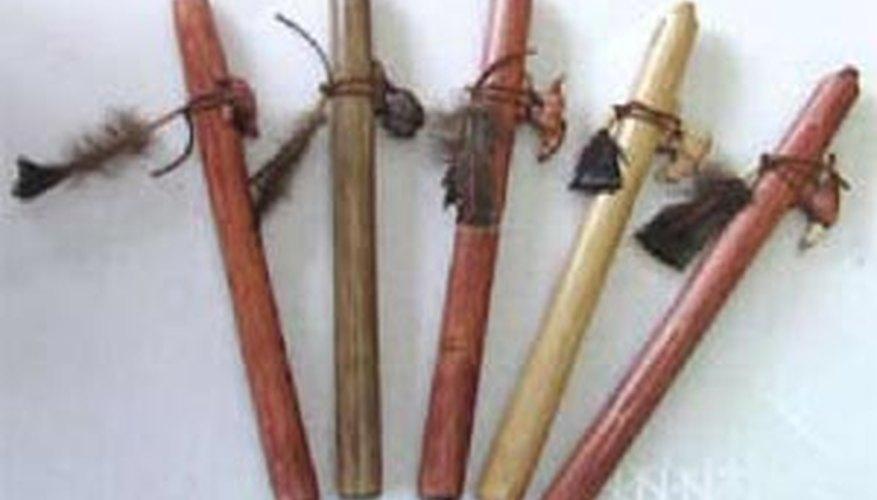 Flautas indias de seis huecos.