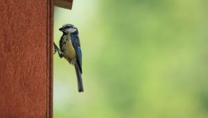 Birds will love houses made from leftover roofing supplies.