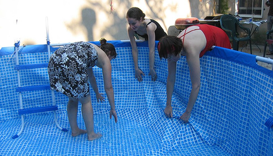 A homemade above-ground pool can be an inexpensive way to beat the summer heat.