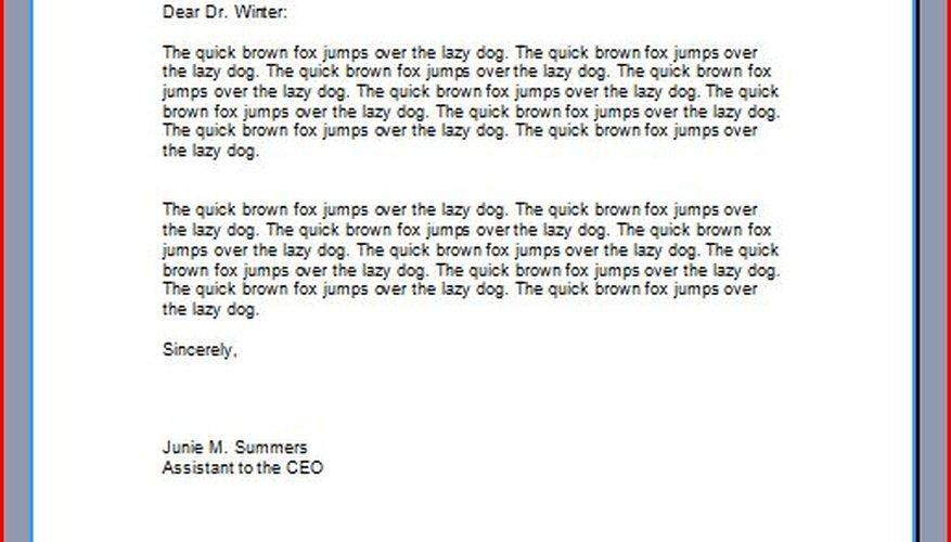 Cómo escribir una carta profesional.