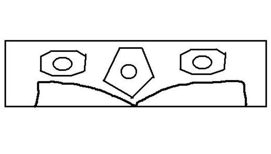 Haz dos rodetes tipo bobinas a cada lado de tu cabeza.