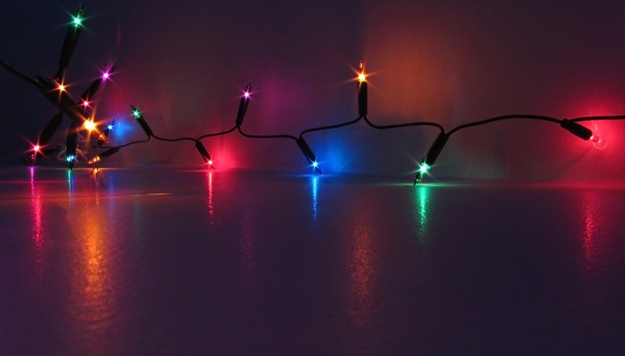 Hanging Christmas lights is a good way to get into the holiday spirit.