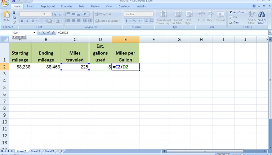 Excel puede ayudarte a calcular el consumo de combustible de tu auto.