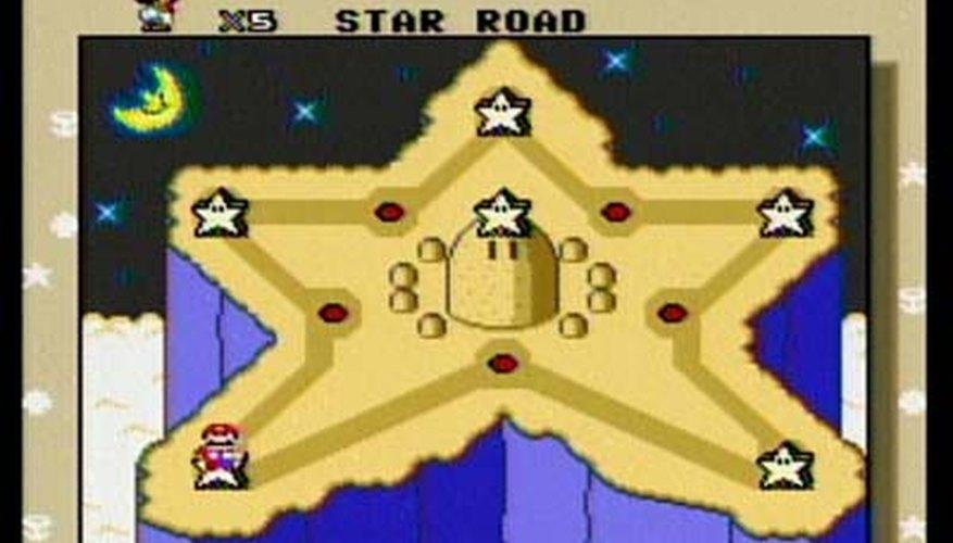 Este es el aspecto del mundo secreto de la estrella en Super Mario World.