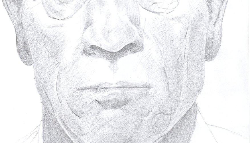 Traza arrugas en un rostro humano.