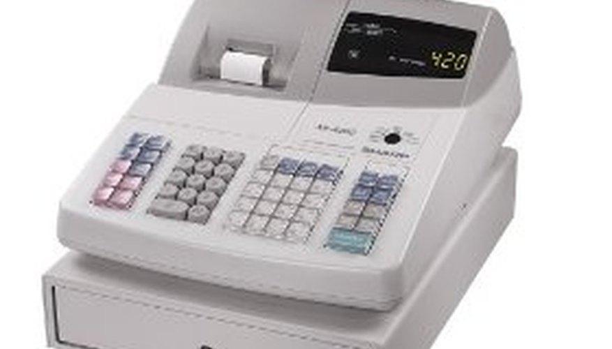 Caja registradora electrónica.