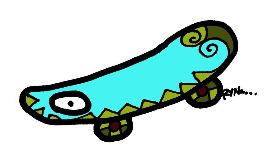 Este diseño de tabla de skate es sencillo y sin embargo atrevido.