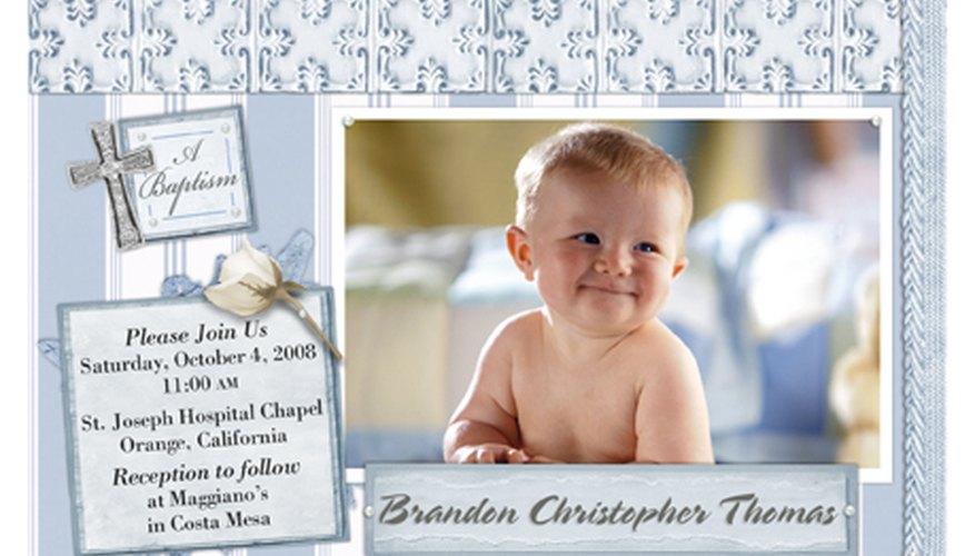 Invitaciones para un bautizo hechas por ti mismo.
