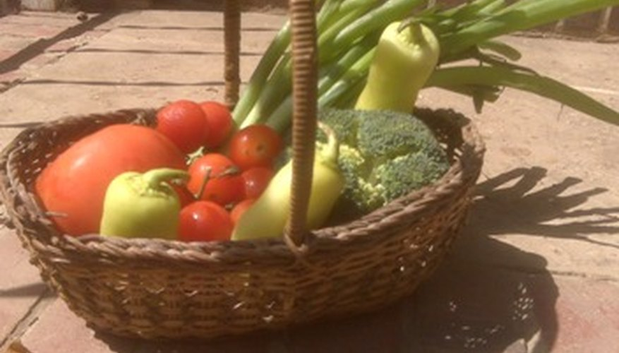 Homeg-grown vegetables