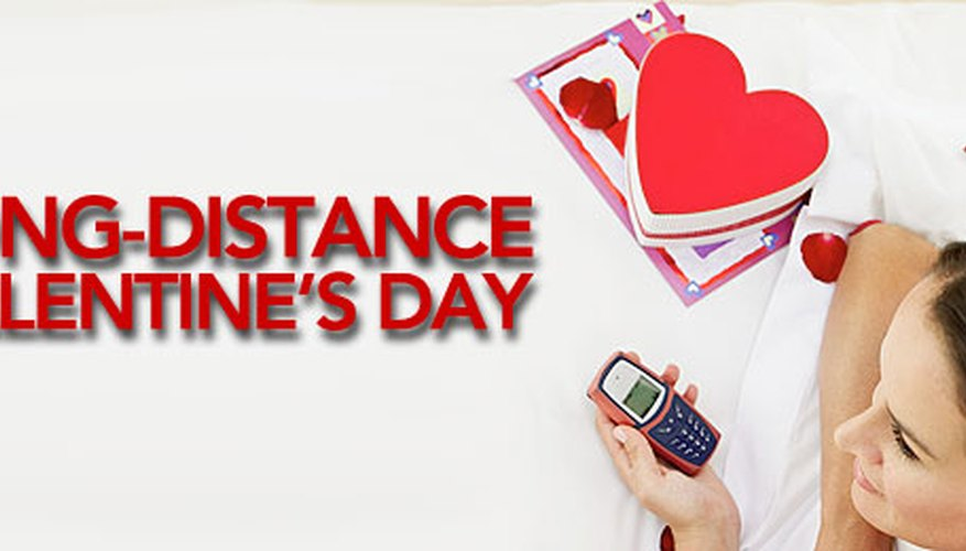"On a day that's all about reserving a ""table for two,"" it's hard to enjoy Valentine's Day together when you're physically far apart. Here are 10 ideas to help long-distance daters share the love."
