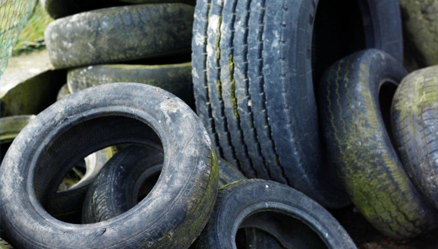Comienza un negocio de reciclaje de neumáticos.