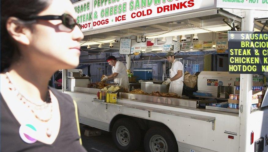 Abre un camión de comida.