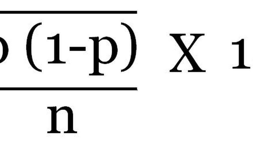 In a simple poll where the sampling is completely random, the margin of error is the square root of p(1-p)/n, multiplied by 1.96.
