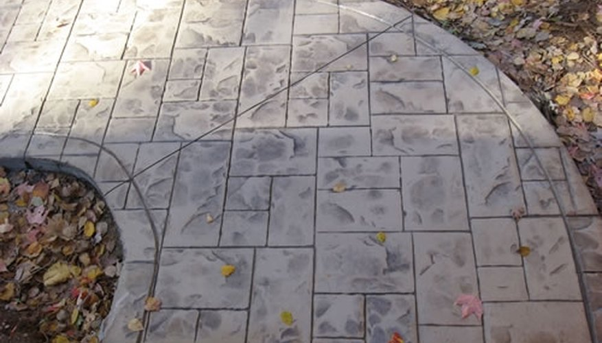 Stamped concrete used in a walkway