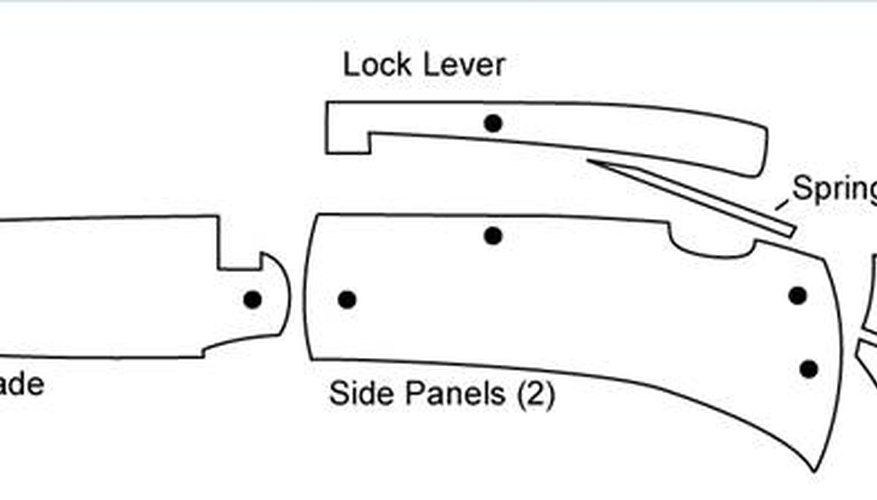 picture relating to Printable Knife Templates titled How in the direction of Deliver a Lockback Knife Our Pastimes