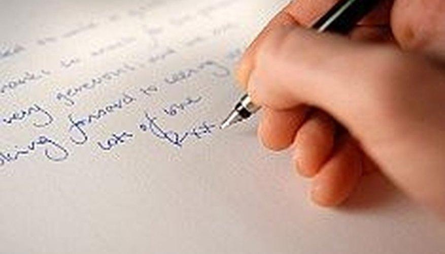 Writing a love poem.