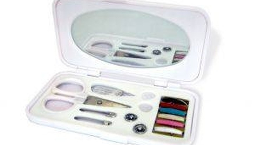 A simple sewing kit is all you need.