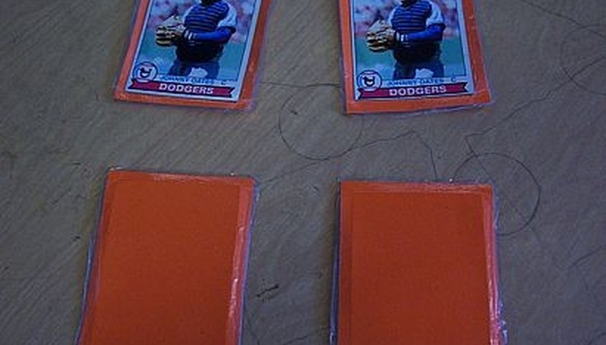 Make a Baseball Card Memory Game