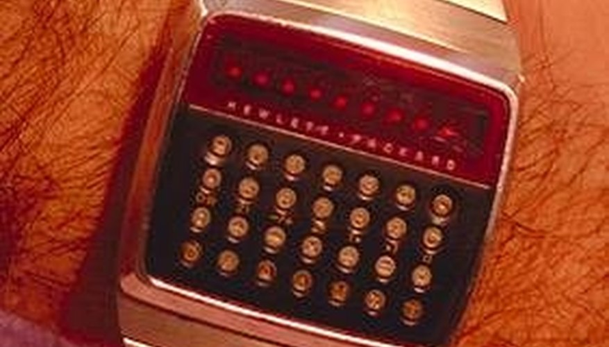 HP LED calculator watch of the 1970's