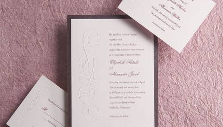 Example of Invitation Embossing